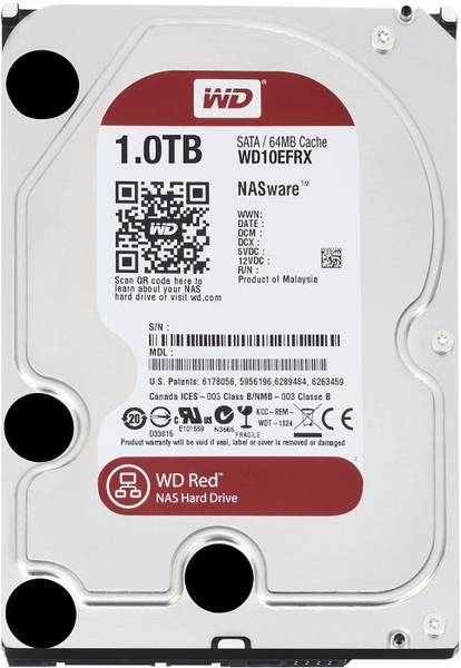 Твърд диск 1TB WD Red WD10EFRX - WD10EFRX (втора употреба)